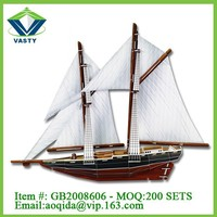 blue nose ship 3d paper model toy cardboard puzzle