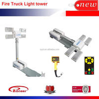Fire truck led light tower 2.2meter 4x150w led head