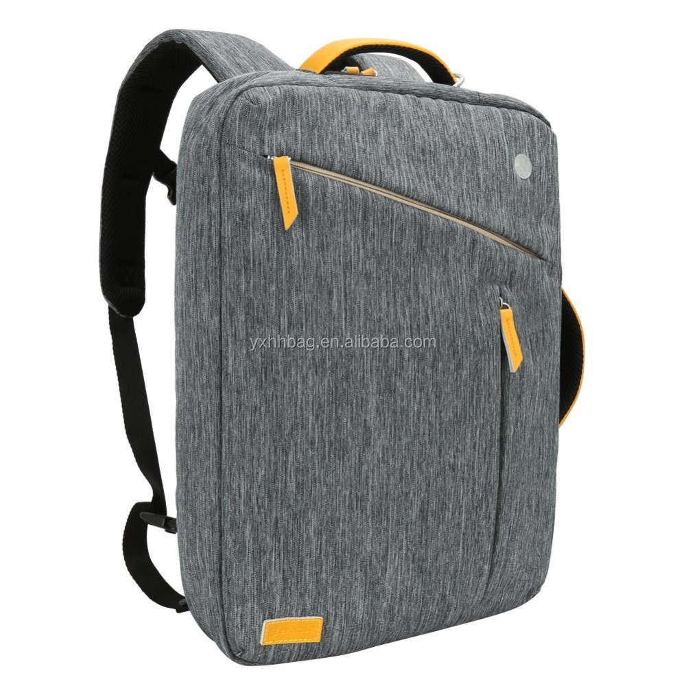 Laptop Briefcase Backpack Water Resistant Convertible Laptop Canvas Briefcase Backpack(YX-Z207)