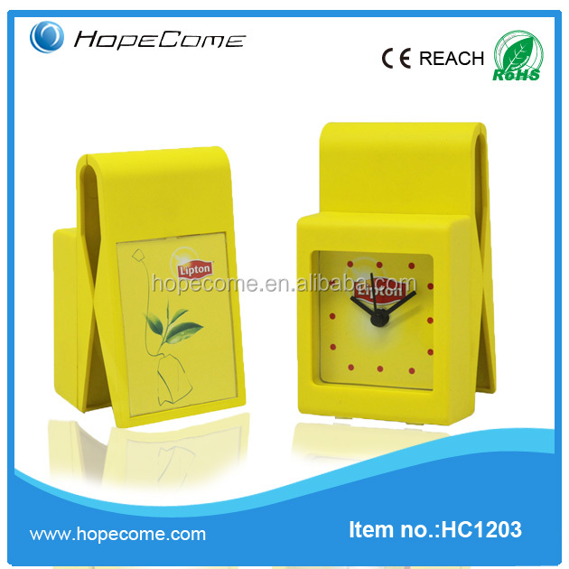 HC1203 photo frame insert clock with table clock skeleton clock