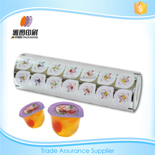 Heat sealing film for jelly cup packaging