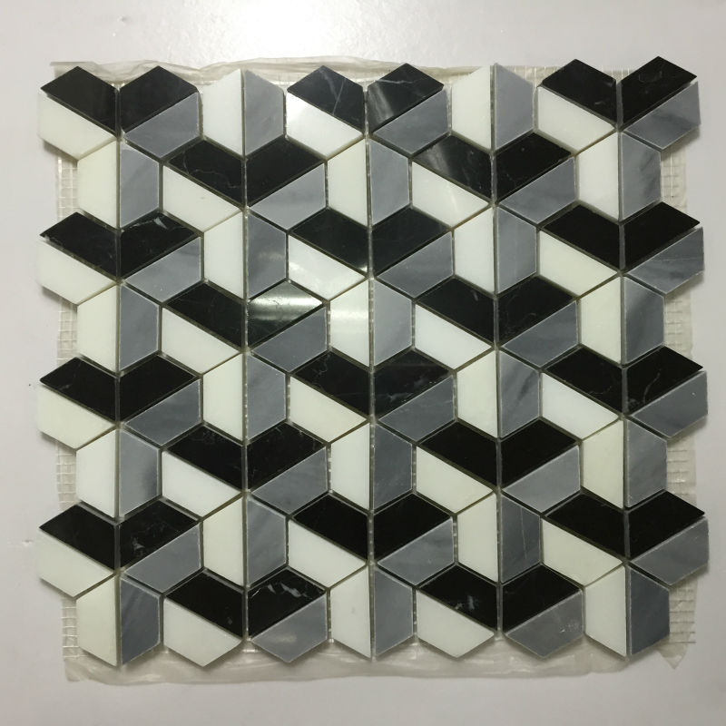 aluminum purple cube 3d mosaic tile for wall art decor