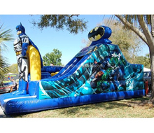 New design Batman inflatable bouncer, inflatable bounce house with slide