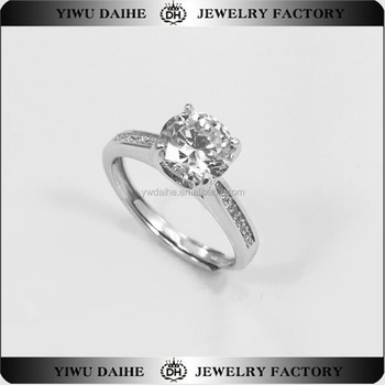 Fashion S925 Sterling Silver Women's Cz Engagement & wedding Ring Smart Opening