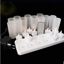 Cheap remote control Led tealight Candle With plastic Cup