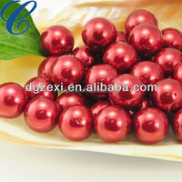 Professional wholesale Red south sea glass pearl beads loose pearl