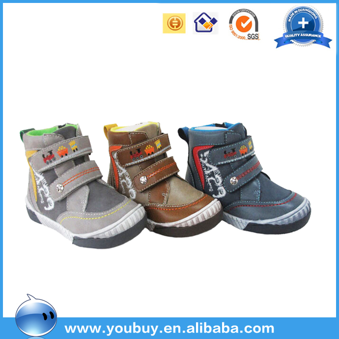 OEM brogue high quality genuine leather shoes for children boys