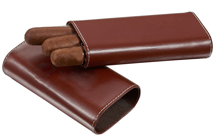 KID wholesale custom travel cigar case leather