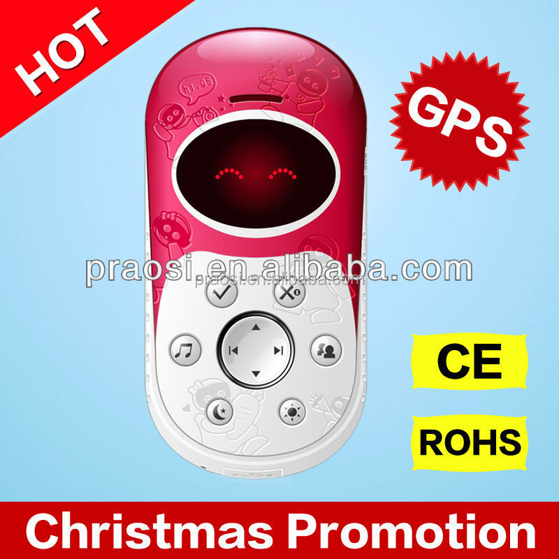 High quality kids GPS Position Tracking Cartoon gsm Mini Mobile Phone with SOS Emergency Calling Functions