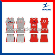 2015 Wholesales sublimated woman basketball top