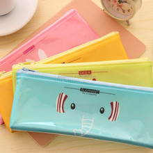 custom printing plastic zippered pvc pencil case for school and kids
