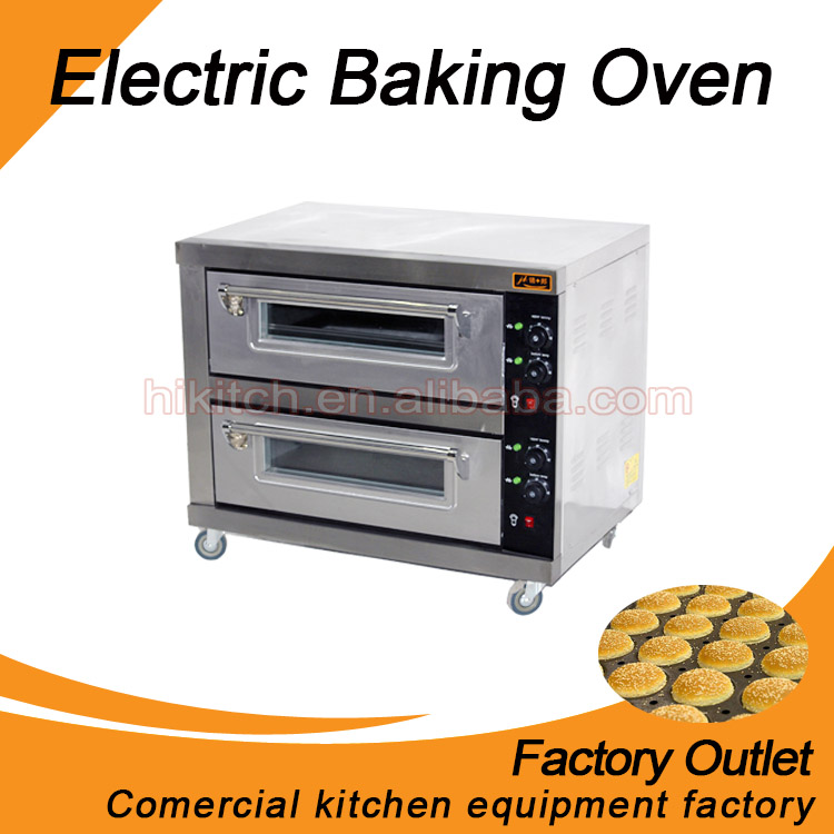 Double deck high efficiency stainless steel oven electric home baking used bread oven