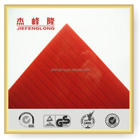 Red Plastic Hollow Sheet for Roofing Swimming Pool Building Materials
