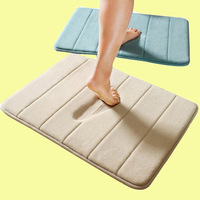 (CHAKME) Washable Bathroom Design Waterproof Anti Slip Memory Foam Bathroom Tapete Mat