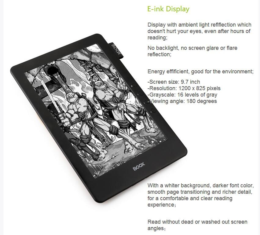 e-ink ebook reader 9.7 ppt ebook readers with translation