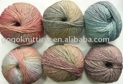 wool soya roving yarn