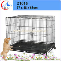 wholesale pet supplies folding metal mesh dog cage