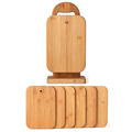 6 Piece Bamboo Cutting Board Sets with Stand Holder
