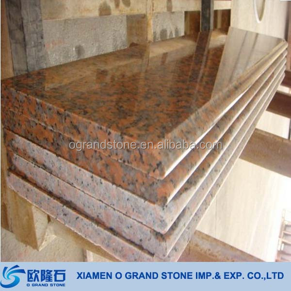 Maple Red Granite Indoor Outdoor Building Materials Stone Steps Stair Steps