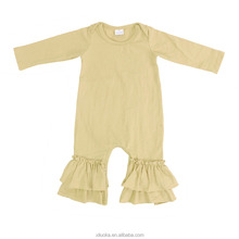 Newborn Cotton Infant Clothing Kids Winter Rompers Plain Color Baby Onesie Wholesale