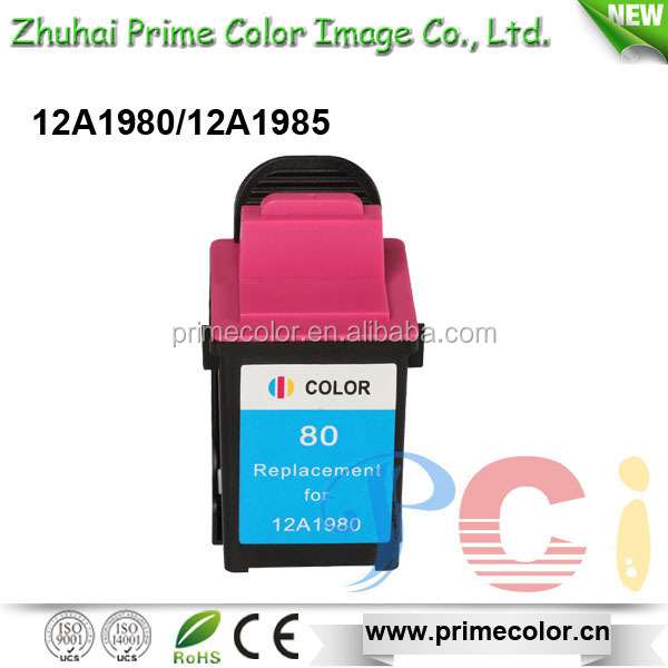 Replacement Ink Cartridge for Lex mark 12A1980 12A1985