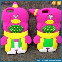 Bulk wholsale mobile accessories funny cartoon couple character silicone phone cover for iphone 6s