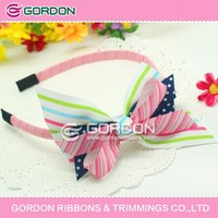2012 new hair accessories,solid color hair band,fancy baby hair bow