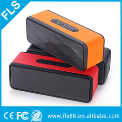 Portable Mini Wireless PU Leather Case Bluetooth Speaker AUX USB Rectangle Speaker