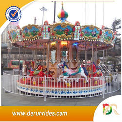 Video Available!!! Derun Rides amusement park carousel horses for sale