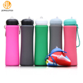 Leak Proof 700Ml Wide Mouth Flat Custom Silicone Travel Bottle