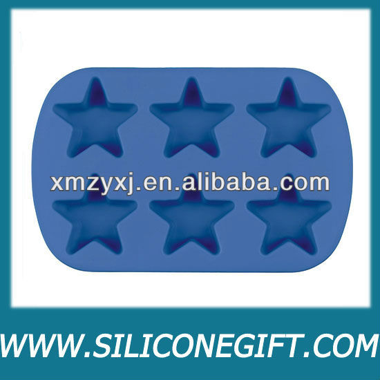 Mini Star 6-cavity Silicone muffin/cake/chocolate/jelly mold/pan
