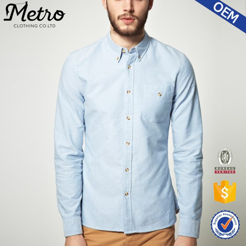 100% Cotton Men's High Quality Custom Oxford Shirt