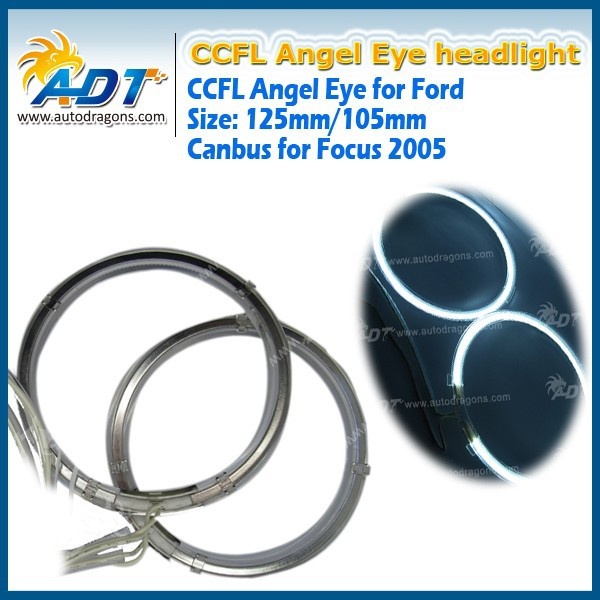 CCFL Angel Eye Halo Ring Projector Black Headlights Left Right for Fo-cus