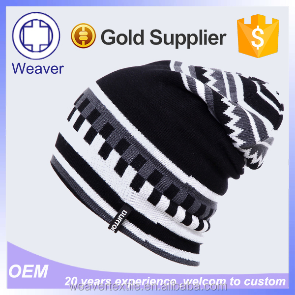 Best Selling Hot Chinese Products Fashion Knitted Long Beanie Hat Knitted Baseball Cap Pattern