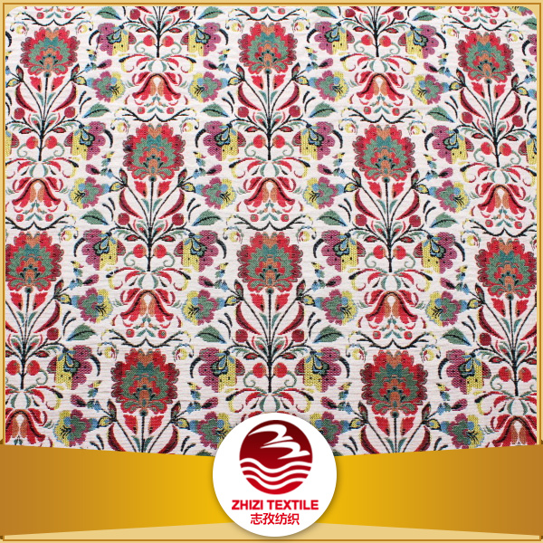 Polyester gobelin jacquard fabric for cushion cover