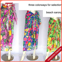 Cheap flower girl dresses printed colorful pareo sarongs