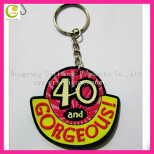 2018 fashion and hot salling soft pvc keychain picture holders, 2D silicone keychain