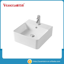 Best brand large supply thin edge modern ceramic sink bathroom square