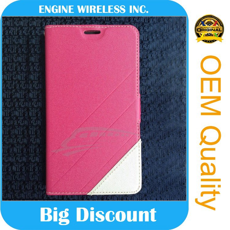 china factory leather flip case for nokia lumia 610