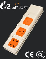 New high quality convenient multi outlet power 250V extension socket & independent switch socket