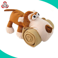 Customized Unique best Made animal head plush baby blanket