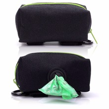 Dog Poop Bag Holder Leash Attachment including Free Roll Of Dog Bags