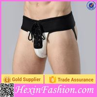 Black Crotchless Style Panties Made for Men