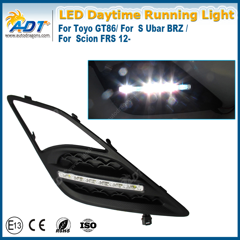 Daytime Running light LED for Toyota FT86/GT86/for Su.baru B.R.Z/for Scion FRS with E-mark E4