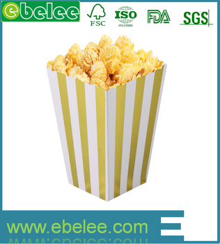 Eco-friendly wholesale popcorn paper boxes