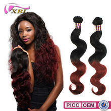 XBL 7A Wholesale Price Brazilian Human Hair Two Tone Color Remy Human Hair