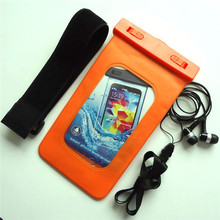 alibaba fr orange PVC IPX8 waterproof pouch for iphone 4s original with headphone jack