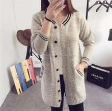 Lady sweater 2015 point knitwear plus size wool long cream cardigan for women clothing coat sweater