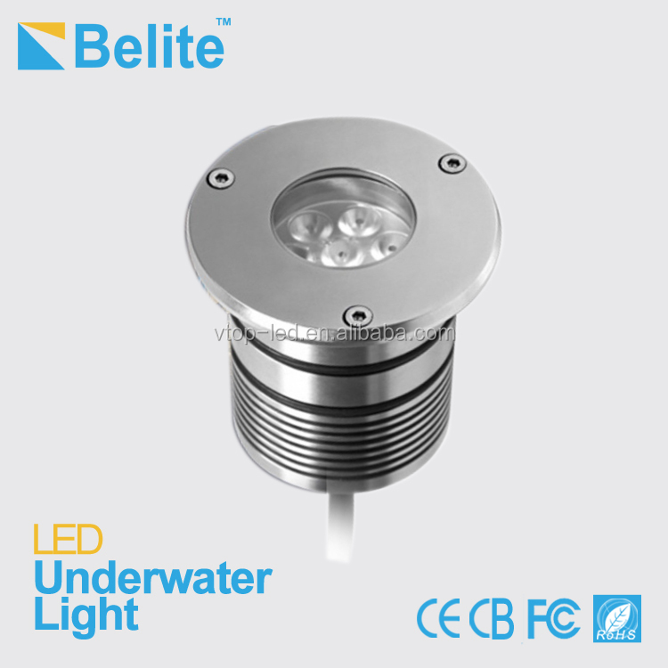 led underwater light 12v IP68 3W led pool lighting 280lm