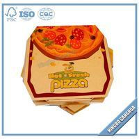 Cheaper Hand-Made Recycle E- Flute Paper Corrugated Pizza Boxes manufacturer, Carton pizza delivery box